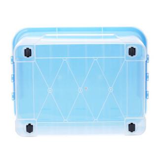 Jeko&Jeko SWB-5222 塑料透明收纳箱  加厚特大号100L 单只装  蓝色盖子