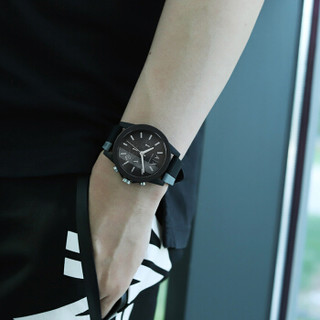 Armani Exchange 阿玛尼手表  男士时尚休闲硅胶表带石英腕表 AX1331