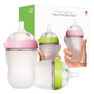 comotomo 可么多么 新生儿宽口径硅胶奶瓶奶嘴套装 (250ml+150ml+Y字) (200-299ml、硅橡胶、宽口径)