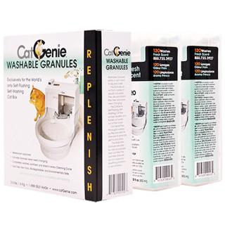 CatGenie 猫厕所专用耗材套餐 清香型清洗液2盒猫砂 白色 1盒