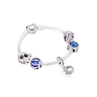 PANDORA 潘多拉 女款 限量礼盒套装礼物 蓝色繁星童话系列皇冠组合 DIY串珠手链组套 D5907345-18
