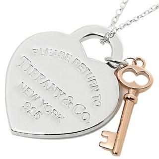 Tiffany&Co. 蒂芙尼 RETURN TO TIFFANY系列女士心形钥匙项链  玫瑰金色 30971531 40.5CM 30971531