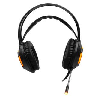 AJAZZ 黑爵 游戏耳机 (黑色、有线、3.5mm/6.3mm 立体声插头)