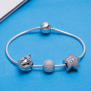 PANDORA 潘多拉 银色闪亮星星魔法茶壶蛇骨链手链手镯 银色 PAND00107