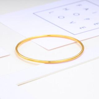 CHJ 潮宏基 足金黄金手镯女款 计价 约7.45g  SDG30000637