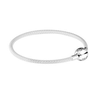 PANDORA 潘多拉 925银经典光滑链扣手链 596543-19