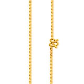 China Gold 中国黄金 足金黄金项链女款时尚o字锁骨项链珠宝首饰礼物 约3.27g