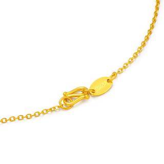 SUNFEEL 赛菲尔 黄金项链女款足金9999百搭项链O字链十字金项链 XJA00057