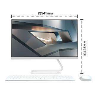 Lenovo 联想 23.8英寸   一体机台式电脑      白 (白色、Intel奔腾 赛扬、1TB HDD、集成显卡、4G)