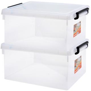 Jeko&Jeko SWB-5290 塑料透明整理箱   25L 2只装