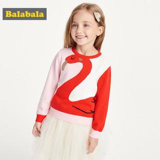 Balabala 巴拉巴拉 女童毛衣2019新款秋装儿童针织衫