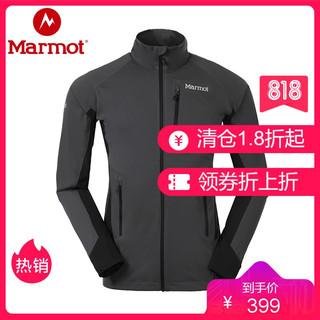 Marmot 土拨鼠 防泼水透气户外夹克M2男软壳衣 S50880