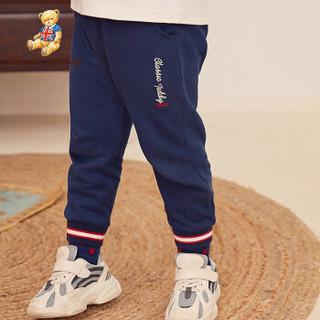 CLASSIC TEDDY 精典泰迪 童装 儿童裤子 泰迪字母星星深蓝 120