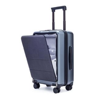 小米米家定制90分拉杆箱轻商务登机旅行箱拉杆箱20英寸双密码锁皮箱 男女万向轮登机行李箱 钛金灰-20英寸