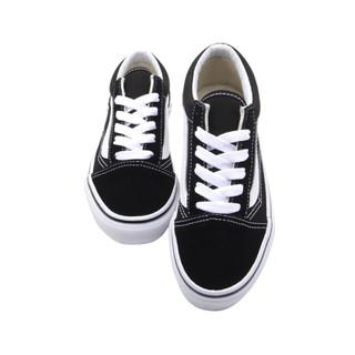 VANS 范斯 Old Skool Black经典系列 VN000W9T6BT 运动童鞋 (黑/白、30)