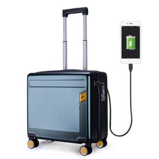 Summit 莎米特(SUMMIT) 拉杆箱男 商务18英寸登机箱旅行箱 小行李箱万向轮PC999TC 绿色