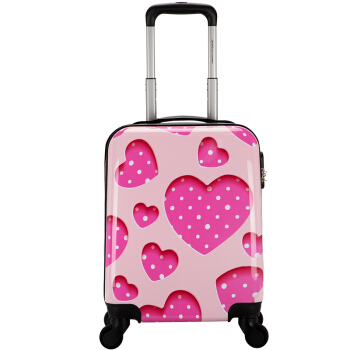 爱华仕(OIWAS)儿童拉杆箱万向轮旅行箱可爱女箱超轻可坐16英寸小学生行李箱OCX6389 糖果爱心