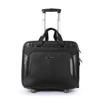 Samsonite/新秀丽拉杆箱19新品 商务飞机机长箱登机箱 前开口软箱BP0 黑色 机长箱 黑色