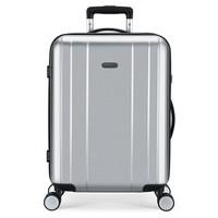 稻草人(MEXICAN)行李箱 20英寸密码锁拉杆箱 静音万向轮登机箱 防刮耐磨旅行箱拉箱男女 月光银