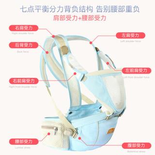 New bealer 纽贝乐 腰凳双肩包 薄荷蓝 DN212-CS (1)