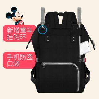Disney 迪士尼 双肩妈咪包 黑色 =