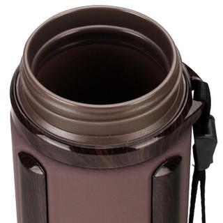万象 I23P 紫砂杯方形泡茶杯滤网茶漏带提绳茶水分离杯390ml