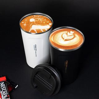 PINKAH 品家家品 PJ-3549-BK 304不锈钢真空喝便携带盖随行咖啡杯 黑色 510ml