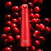洛可可55度杯不锈钢保温杯便携女士 bling邦女郎五十五度水杯男杯子创意细长个性简约情侣水杯带提手 朱砂红-礼盒装-长效保温 *3件