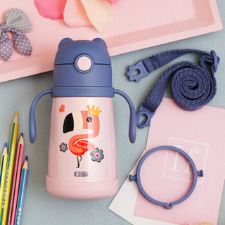 BeddyBear 杯具熊 浮雕学饮儿童保温杯 3D浮雕火烈鸟300ML