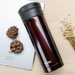 THERMOS 膳魔师 TCMK-500 不锈钢商务办公带滤网保温杯咖啡色-500ml