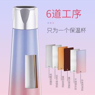 SHIRONG 实融 智能水杯 304不锈钢数显智能保温杯 樱粉色