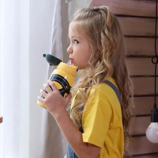 CMSH 草莓生活 3001 316不锈钢儿童双盖两用幼儿宝宝喝水壶 大眼仔-550ml