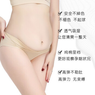 EnjoyPreg 低腰内裤  纯棉 透气 大码托腹    6条装 M 20020(6)