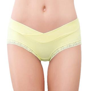 歌庆 孕妇内裤   纯棉  无痕  托腹 蕾丝三角裤头 粉色+浅黄色+肤色+天蓝色 XXL  JDA1081