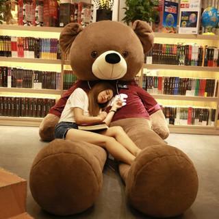 Disney 迪士尼 抱抱熊公仔 深棕黑色卫衣 3.1米全长量2.8米 569176939858