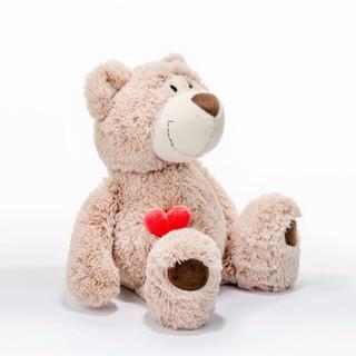 NICI 公仔毛绒玩具咖啡色 80cm大号 NLB0010