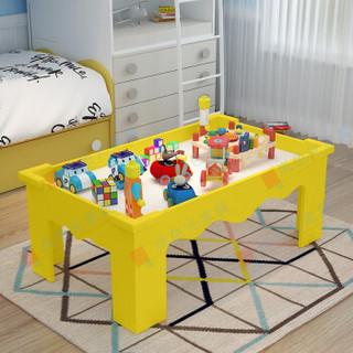 迪圣 儿童玩具沙盘桌积木桌 粉桌60*60*40 ADL-35