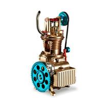 TECHING 土星文化 单缸汽车发动机模型 3D金属拼装拼插模型 大人玩具高难度机械组装 引擎可发动  DM17
