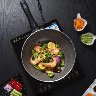 BALLARINI 巴拉利尼 75002-771-A 粘锅煎炒锅平底锅28cm 黑色
