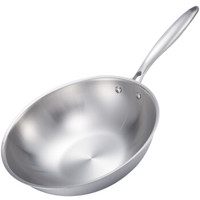 爱乐仕 ALSC-2 304不锈钢无涂层炒锅 30cm