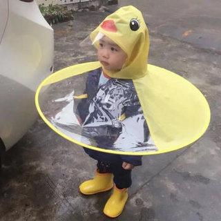 QIANJUHUI 千居惠 斗篷式小孩雨衣 小黄鸭 S码