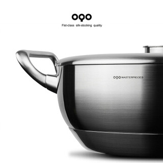 OQO 欧克欧 比特夫系列不锈钢炒锅 28cm 不锈钢色
