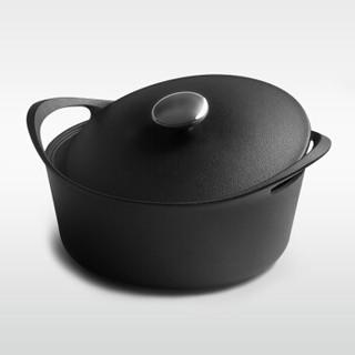 归.禾器 JTC 植物油珐琅铸铁锅 24植物油炖锅+36炒+26煎 黑色