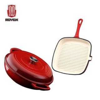 ROYDX 莱德斯 LDST-DZH01 莱德斯珐琅铸铁炫彩豪华组 红色