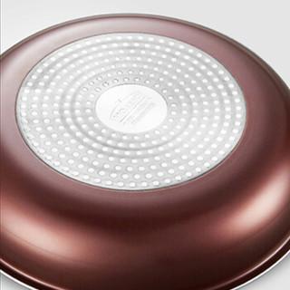DESLON 德世朗 DFS-TZ908 厨房锅具套装悦享不粘锅三件套 棕色