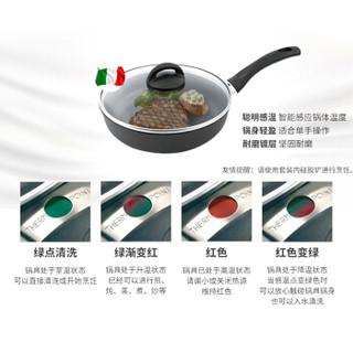 ZWILLING 双立人 中式炒锅 30cm 不锈钢色 红色