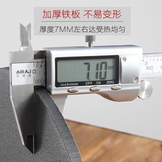 福之味 32cm平板鏊子 平底煎锅无涂层 32cm 黑色