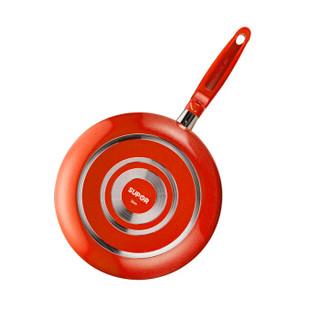 SUPOR 苏泊尔 PJ26E1 绚彩系列火红点煎锅 26cm 红色