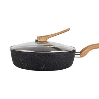 佳佰 平底煎锅 28cm 黑色
