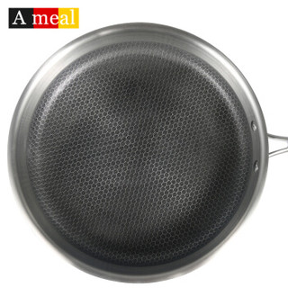 ameal AA1204 德国304不锈钢平底锅 不锈钢色